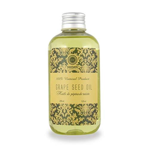 Traubenkernöl für die Haut- und Körper-pflege, Körperöl Feuchtigkeitspflege, Massageöl alle Hauttypen, Vegan, 100% Bio, Handmade, Kokos