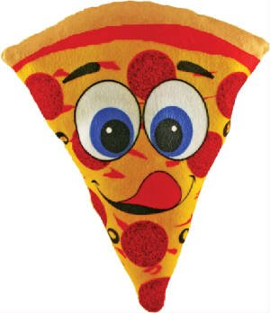 Yummy Plush Pizza Pie Slice Stuffed Food Toy - 7 Inch (Pizza Pillow Plush)