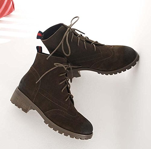 Stivaletti Autumn And Winter Retro boots Scarpe di grandi dimensioni , 43