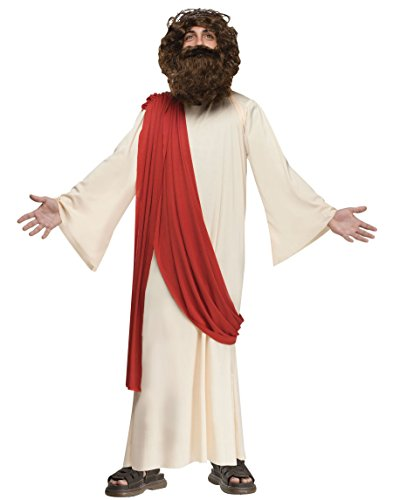 Fun World 110782L Boy's Complete Jesus Costume - Large - Tan