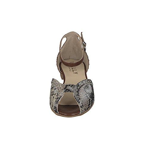 Mally - Tira de tobillo Mujer Beige - Grau Braun