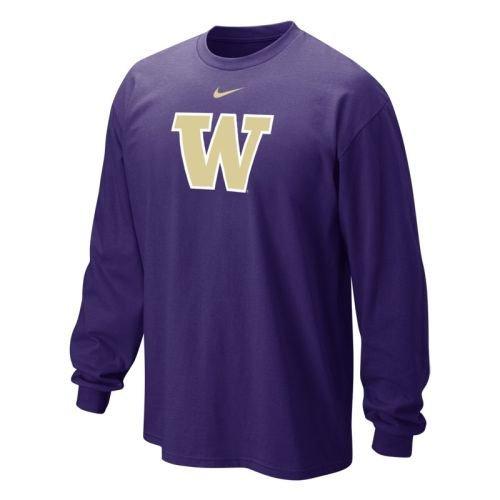Washington Huskies Classic Long Sleeve Logo T-shirt - Men - XL Nike Classic Logo Tee