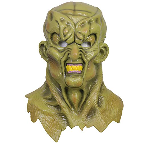 (Goosebumps The Haunted Mask Durable Green Latex Movie Halloween Cosplay Costume)