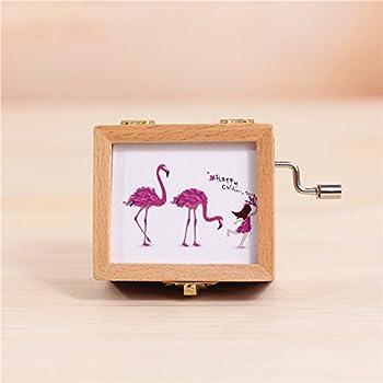 Amazon.com: Flamingos - Caja de madera para el día de San ...