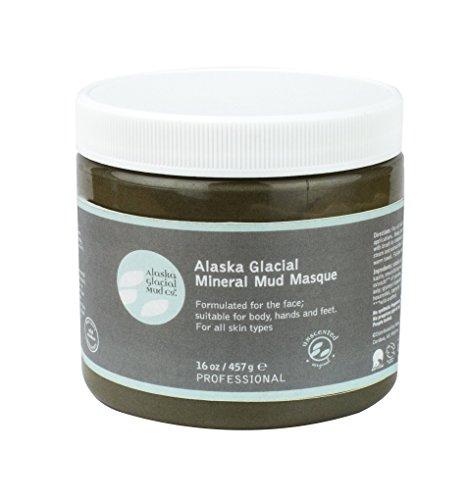 Alaska Glacial Mud Mineral Mud Masque Unscented 16oz Anti-Aging Mud Mask Skin Softening, All Skin Types Paraben-Free