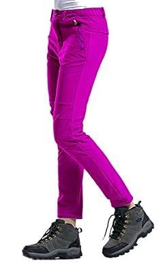 LANBAOSI Women's Waterproof Warm Fleece Outdoor Sports Hiking Skiing Pants