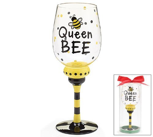 queen bee wine glass - 1