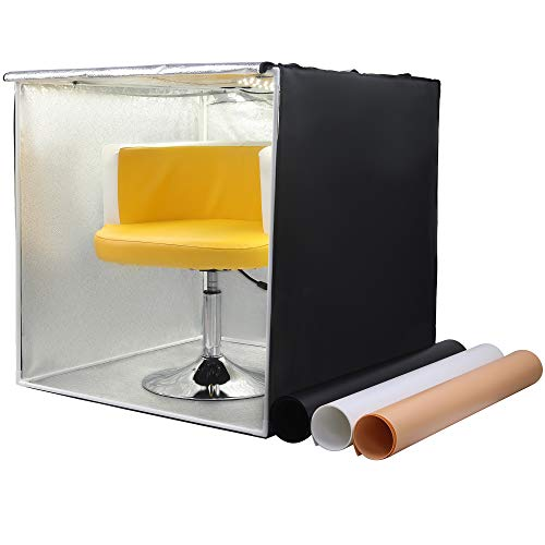 Phomito Light Box Tent Booth for Product Photography, 7 Dimmable Lighting Settings, 3 Backdrops, Portable Bag, Perfect for Photo Shooting Studio (Four LED Panels, 31.5x31.5x31.5 Inches) by Phomito (Image #7)