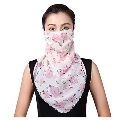 Alueeu Multifunctional Scarf Outdoor Headwear Bandana UV Women Sun Chiffon Dustproof Neck Scarf Neck Gaiter Bandana: Office Products