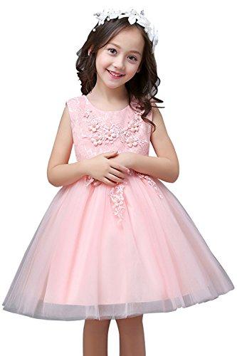 Blumenmädchen Kleid Kinder Mädchen Kleid mit Schleife Festkleid ...