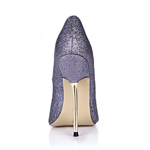 Glitter Fashion MULTI Stiletto Prime Shoes Women Shiny DOrsay Heels Grey High Pumps COLORS Peep Thin DolphinGirl rqnR1wra