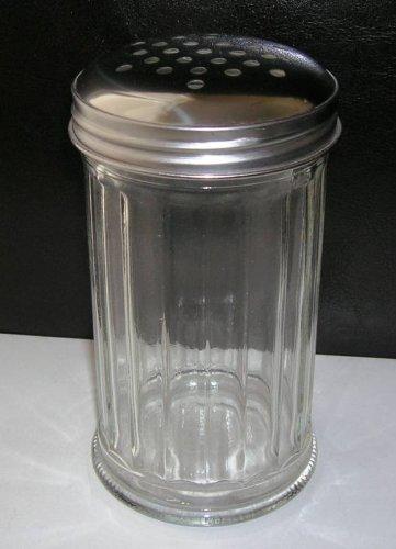 GSL 1 x Cristal Acero Inoxidable dispensador de Chocolate espolvoreador harina azúcar glas Cappuccino