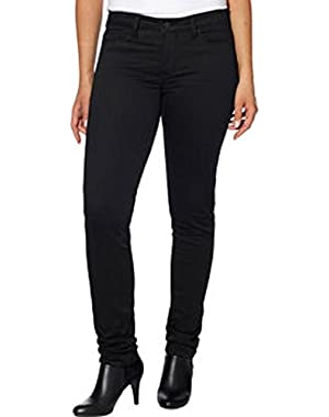 Womens Fashion Soft Sateen Mid-Rise Skinny Comfort Stretch Pant