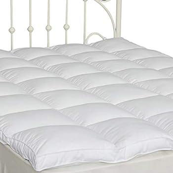Twin Pillow Top Mattress Cover Plush Down Alternative Mattress Topper 2