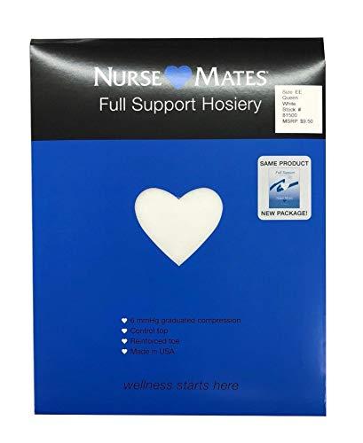 Nurse Mates Women's 6 Mmhg Feels Terrific Full Support Pantyhose Hosiery Xx-Large White