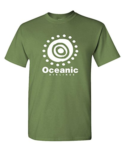 Oceanic Airlines - The Goozler Oceanic Airlines - Lost Airplane Crash Joke - Mens Cotton T-Shirt, M, Military