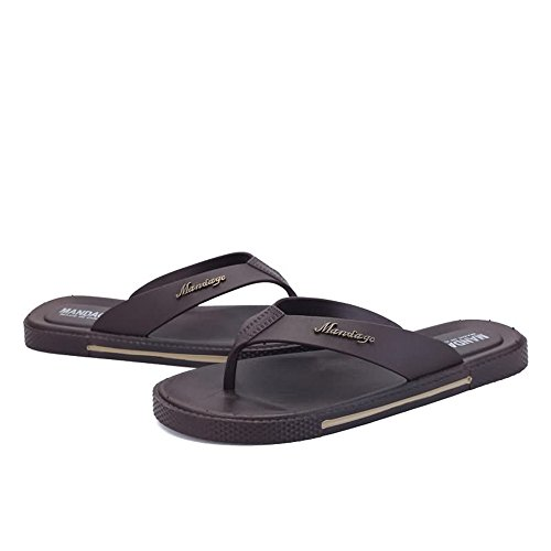 Men's amp;Baby Sunny Beach Flops 8MUS 10MUS Slipper Color Classic Flip Size Brown Brown to Sandals Thong up Durable Size A5Adqwr