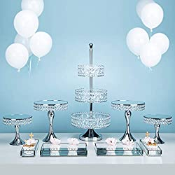 Tiers Silver Cake Tools for Party