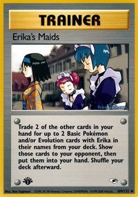 Pokemon - Erika's Maids (109) - Gym Heroes - 1st - Heroes Pokemon Gym