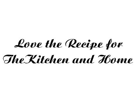 kitchen sayings love the recipe vinyl car decal red - Kitchen Sayings