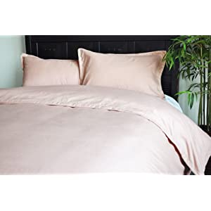 Natural Comfort Embossed Microfiber Duvet Cover and Pillow Sham Set, Rose, Twin