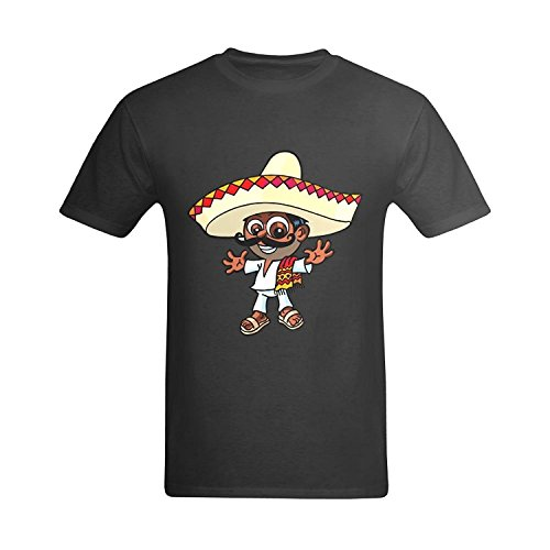 LittleArt Men's Mike The Mexican T-Shirt - Quotes Tees US Size 5