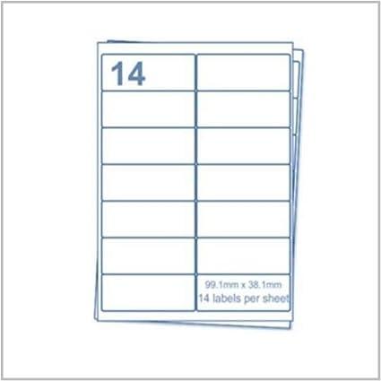 🌟 EJRange 14 etiquetas por hoja A4, 100 hojas 1400 etiquetas Total, etiquetas autoadhesivas para impresoras de envío de direcciones – Compatible con ...