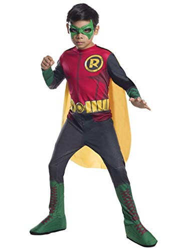 DC Superheroes Robin Costume, Child's Large