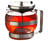GROSCHE BUDAPEST glass and stainless steel teapot with infuser 1000 ml 32 fl. oz size