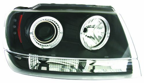 UPC 844176003225, IPCW CWS-5002B2 Clear Projector Headlight with Black Housing - Pair