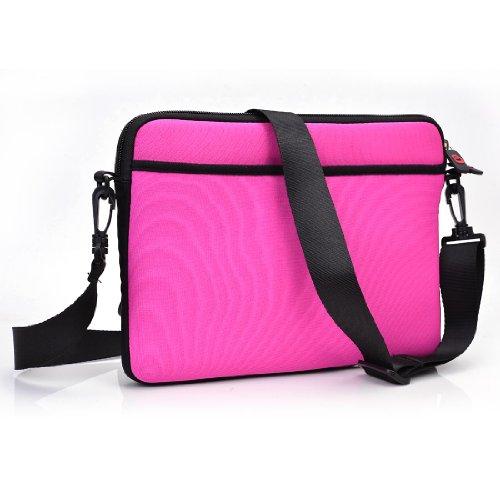 "MAGENTA Slim Neoprene Messenger Crossbody Bag / Handbag for Amazon Kindle Fire HD 7"" Tablet // Loose Fit"