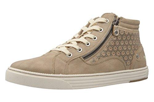 MUSTANG - Damen High Top Sneaker - Taupe Schuhe in Übergrößen