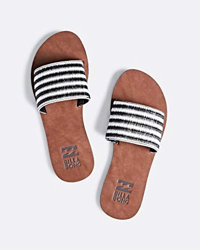 Billabong Women's Horizon Flat Sandal Black/White 6 M US