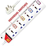 MX 4 way Universal Power Strip with Child Shutter