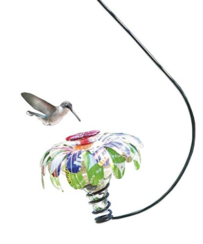 Hummingbird Feeder Hanging Blossom (BestNest Parasol Sugar Shack Hummingbird Feeder w/Hook, Clear, 4 oz.)
