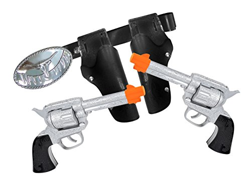 Maxx Action Western Series Toy Cap Pistol Combo (Ring Caps) (Pack of 2) Toy Guns Holsters