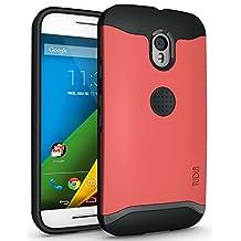 TUDIA Slim-Fit MERGE Dual Layer Protective Case for Motorola Moto G 3 (3rd Gen 2015 Released) (Rose Pink)