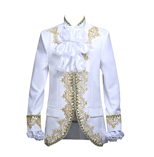 ROLECOS Mens Prince Charming Costume Royal Tuxedo Luxury