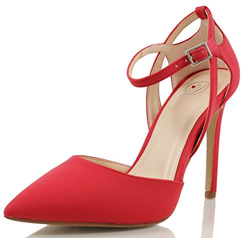 Ankle Red Side Cut Jonas Out Strap Delicious Womens Pointy Toe FHTUwcx0fq