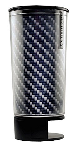 Carbon Fiber Spit Bud Portable Spittoon with Can Opener: The Ultimate Spill-Proof Spitter by Spitbud ()