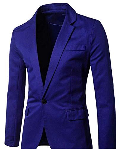 Traje Chaqueta Button Elegante Hombre One Blau Blazer Slim Simple Para Estilo Fit Abrigo Negocios De Ocio Casual wEqzd