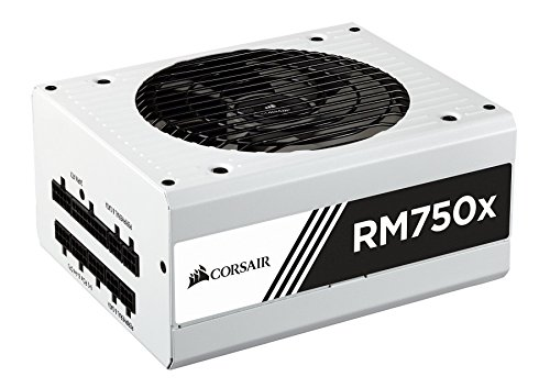 CORSAIR RMX White Series, RM750x, 750 Watt, 80+ Gold Certified, Fully Modular Power Supply- White