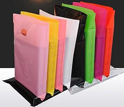 Tyro - 50 Bolsas de plástico Grandes con asa para la Compra ...