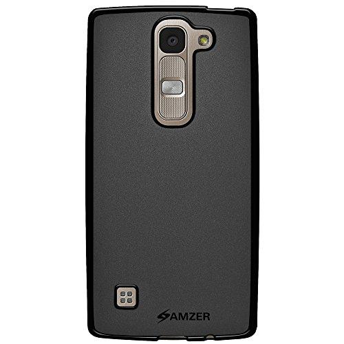 AMZER Pudding Soft Gel TPU Case for LG Escape 2, Logos US550, Spirit H422, Spirit H440N - Retail Packaging - Black