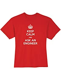 Unisex Adult Keep Calm and Ask an Engineer T-Shirt