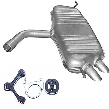 Montageware Endschalld/ämpfer Auspuff Touran 1.9//2.0 TDi Turbo Diesel NEU