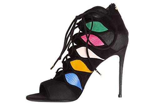 Salvatore Ferragamo sandalias de tacón mujer en piel nuevo felicity negro