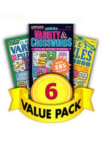 Puzzle Value Pack - Crossword & Variety-6 Pack