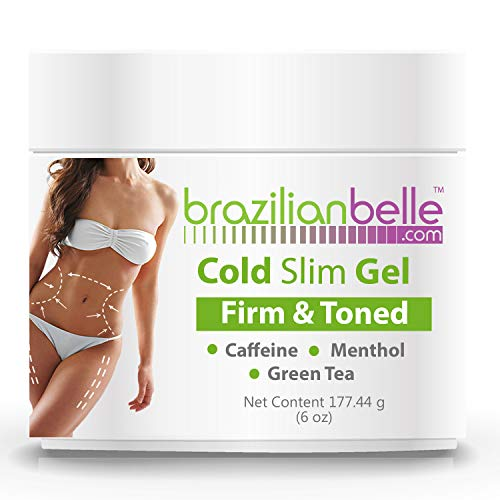 Cellulite Cold Slimming Gel with Caffeine and Green Tea Extract - Reduce Appearance of Cellulite