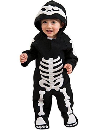 Rubie's Baby Skeleton Romper Costume, Black/White, 6-12 Months